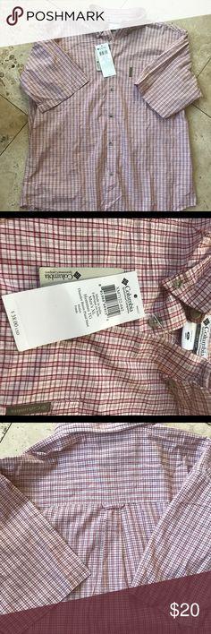 Columbia Short Sleeve Button Down Shirt NWT Thunder Basin Plaid Shirt New with tags Columbia Shirts Casual Button Down Shirts