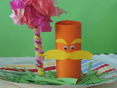 With Earth Day almost a month away (22nd April), let the kids be inspired by Dr Seuss' The Lorax to save our planet. This craft is very easy to make and will be a reminder of Dr Seuss' wise words from the book 'Unless someone like you cares a whole awful lot ,nothing is going to get better. It's not.' This craft will undeniably have a positive influence on the kids to be environmentally friendly and take actions to preserve our beautiful Earth.