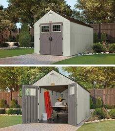 Tremont® 8x16 Storage Shed & BMS5700. This Suncast versatile vertical shed makes it easy to get ...