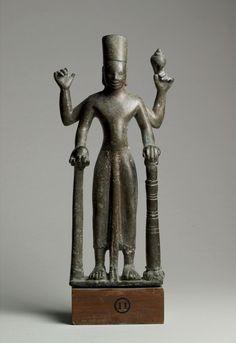 Vishnu  Fu Nan period, 7th century  Tan Phu site, Tan Hoi Village, An Giang Province  Bronze  Museum of Vietnamese History, Ho Chi Minh City, BTLS 1585