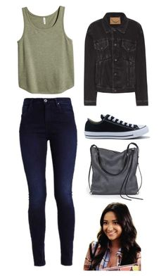"""""""Emily fields"""" by littleangel66 ❤ liked on Polyvore featuring H&M, Balenciaga, Converse and Ina Kent"""