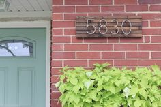 How beautiful are these updated house numbers from @theDIYplaybook!?
