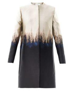 972 Mary Katrantzou Saga trees ombre jacquard coat on shopstyle.co.uk