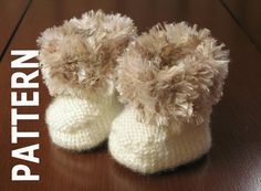 These cute booties can be knitted in a wide variety of yarns in any colour, but knit up best using worsted weight. Cuffs can be knitted in boa or eyelash to make them extra cozy. The booties fit 3-6 months. The sole is about 3 long. Please dont hesitate to contact me via Etsy convo if you need clarification on any part of the pattern instruction, or if there is an error. Every effort has been made to make sure instructions are clear and accurate. Thanks for visiting