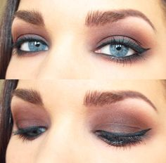 OMG. This is something I'm going to try! I've never thought of using a bold brown in that shade. Check out the makeup artist's site for more looks... She's AMAZING.