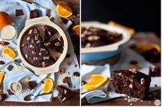 Brownie de naranja y avena, opción fitness para el verano