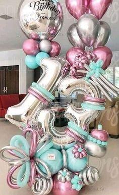 16 Balloons, Glitter Balloons, Balloons And More, Large Balloons, Wedding Balloons, Birthday Balloon Decorations, Happy Birthday Balloons, Balloon Arrangements, Balloon Centerpieces