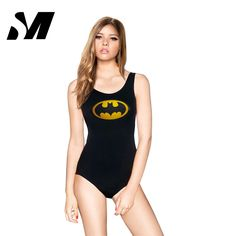 Serand Mido Funny Bathing Suit Sport Swimwear Women Batman Cartoon Backless One Piece Swimsuit Ladies Swimming Costumes SM4SS010