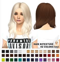 Miss Paraply: Nightcrawler Turn It Up hairstyle retextured  - Sims 4 Hairs - http://sims4hairs.com/miss-paraply-nightcrawler-turn-it-up-hairstyle-retextured/