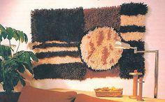 1957 Rya pattern with high-low pile Cool Tapestries, Tapestry, Rya Rug, Rug Hooking Patterns, Pattern Paper, Folk Art, Weaving, Bloom, Textiles