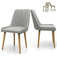 These stylish upholstered dining chairs are available in two colours; grey weave or natural beige. Their minimalist style make the ideal for both modern or traditional dining areas.