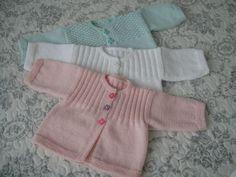 Encore des ensembles pour ces chers petits (1à3mois) - Tricot, crochet, doudous de Memie Cathy                                                                                                                                                                                 Plus