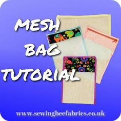 How to sew mesh fabric to make delicates laundry bags