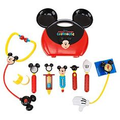 Disney Mickey Mouse Clubhouse Doctor Set | Disney StoreMickey Mouse Clubhouse Doctor Set - You'll have a junior physician in residence with our 10-piece Mickey Mouse doctor's kit play set. Doc Mickey makes a housecall carrying a colorful mouse-eared case filled with toy medical equipment to keep everyone feeling good.