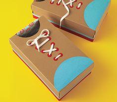 DIY Cardboard Shoes to help kids learn to tie