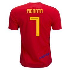 Alvaro Morata 7 2018 FIFA World Cup Spain Home Soccer Jersey Spain Football c5015eaf0