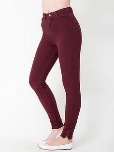 The Four-Way Stretch High-Waist Side Zipper Pant by #AmericanApparel in Truffle.  #Highwaist #pant #fall