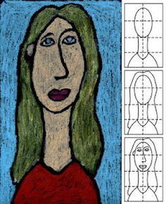 Art Projects for Kids: Modigliana Portrait, easy to do. Could be used done with self-portraits and done at the beginning of school with bio poems.