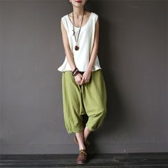 so relaxed and beautiful, love the wide leg pants www.buykud.com