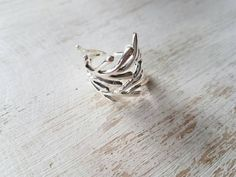 Sterling Silver Coral Branch Ring by SatiGemsHawaii on Etsy