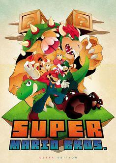 'Super Mario Bros Ultra Edition' Poster by Derek Turner