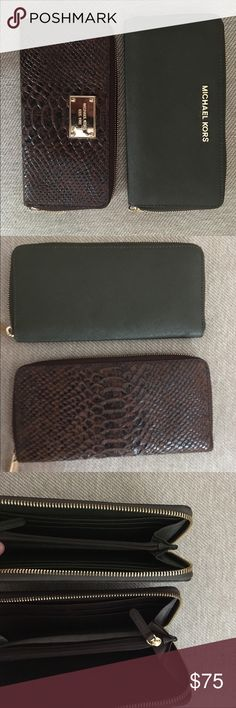 Michael Kors wallets These wallets need a NEW home! Gently used, in perfect condition! $75 Each MICHAEL Michael Kors Bags Wallets