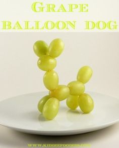Grape balloon dog