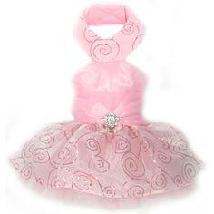 Pixie Dust Halter Dog Dress - Soft Pink