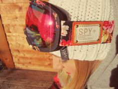 spy snowboard goggles womens marshall moon flower floral pattern girls goggles