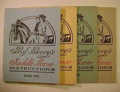1934 Prof. Beerys Saddle Horse Instructions Book set Illustrated Art Deco Equestrian Training. $24.95, via Etsy.