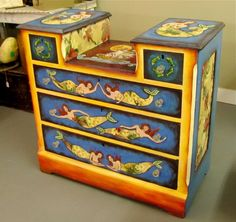 Amazing mermaid dresser by Dee Sprague