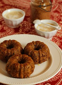 Butternut Squash and Apple Mini Bundt Cakes with Cream Cheese Glaze