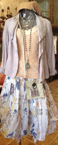 Robin Kaplan Jacket Only Hearts tank  Adorne & Tuscon necklaces KBD bag Ewa Walla skirt