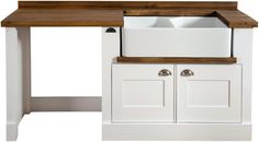 Double Butler Sink Unit with space dishwasher Free Standing Kitchen Units, Kitchen Sink Units, New Kitchen, Clifton Houses, Butler Sink, Swedish Style, Home Kitchens, Storage Spaces, Kitchen Design
