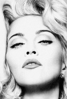 Madonna - Big #America ! 'Always here 4 you❤'. #blackandwhite More