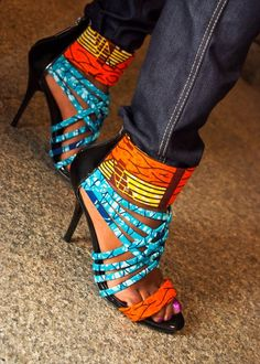 African print shoes, from Black Girls Killing It