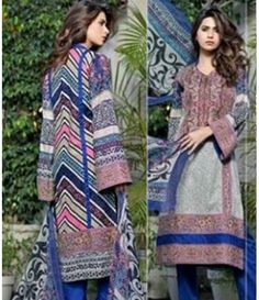 Karam Embroidered  Lawn Suits Collection 791_B