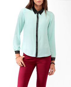 I have the exact same shirt just in a deep dark blue but, would love it in mint