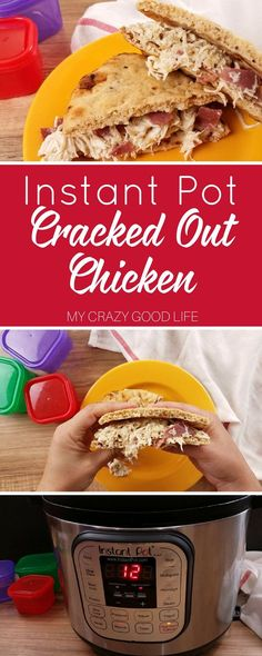 This Healthier Cracked Out chicken is a great recipe that is fast, healthy, and easy to make. The whole family will love Instant Pot Cracked out Chicken! via @bludlum