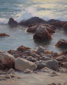 Low Tide, Monterey by Jesse Powell Oil ~ 18 x 14