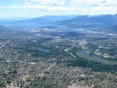 A bird's eye view of Vancouver, B.C.