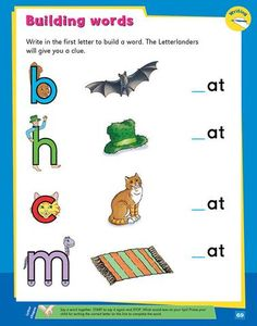 My Second Phonics Activity Book Letter Activities, Phonics Activities, O Words, Word Building, Teaching Phonics, Circle Time, Writing Skills, Learn To Read, Preschool