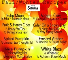 I am so excited for all the fall/winter scents to be warming all the time! What's your favorite recipe?    www.emccorkle3.scentsy.us