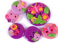 Butterfly buttons dragonfly handmade buttons uk от LittleHappyBoom