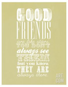 Good Friends Are Like Stars Reproduction d'art