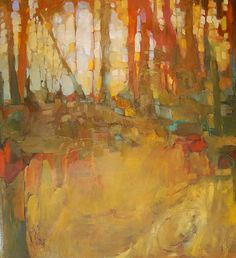Olivia Pendergast (born in Florida; based in Seattle, WA) aka Holly Mae (Holly is her initial name). Landscape Artwork, Abstract Landscape Painting, Abstract Art, Chef D Oeuvre, Oeuvre D'art, Autumn Painting, Tree Art, Painting Inspiration, Les Oeuvres