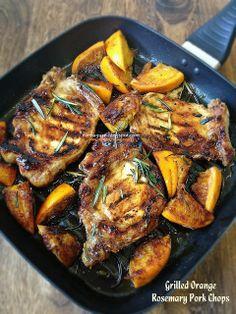 Cuisine Paradise   Singapore Food Blog   Recipes, Reviews And Travel: Grilled Orange Rosemary Pork Chop