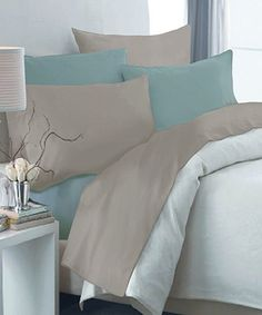 Take a look at the Sea Spray & Glacier Gray Reversible Sheet Set on #zulily today!