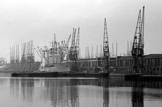 London Docks Easter 1977    King George V Dock. The site of London City Airport when it was still a working dock.