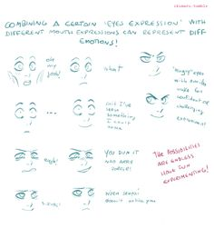 Drawing Eyes Expression Eye expressions and how to draw tutorial by drunk Rose district - Drawing Reference Poses, Drawing Poses, Drawing Tips, Art Reference, Drawing Stuff, Anatomy Reference, Sketching Tips, Drawing Techniques, Drawing Ideas
